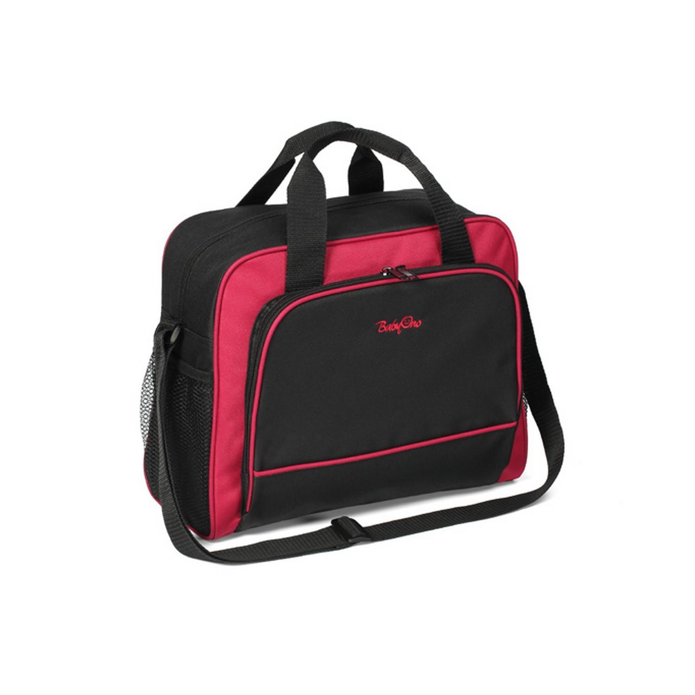 """დედის ჩანთა """"ბეისიქი"""" შავი-წითელი"""